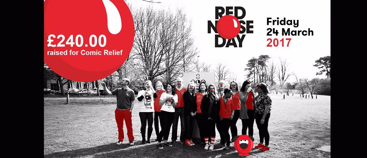 BLC Wear Red for Red Nose Day, Raising £240 for Comic Relief