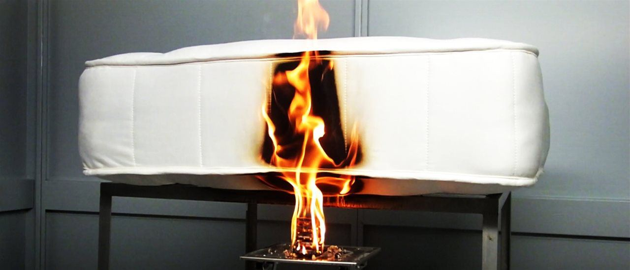Watch BLC's Short Video on Mattress Flammability Testing Accredited by UKAS to ISO 17025