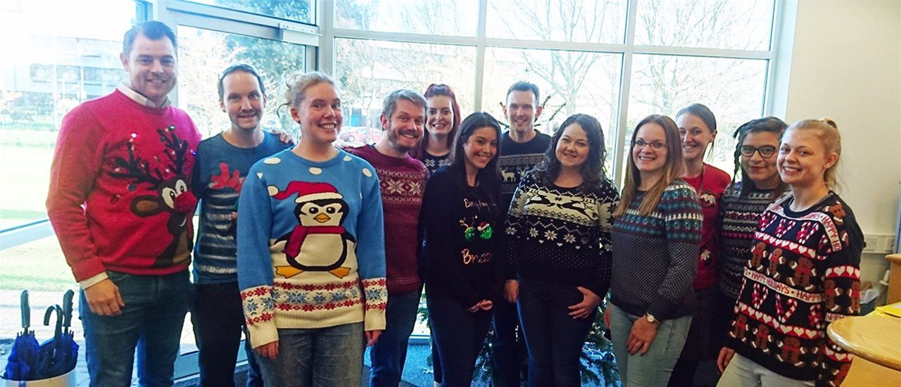 BLC Staff Don Festive Woollies to Raise Money for Save the Children