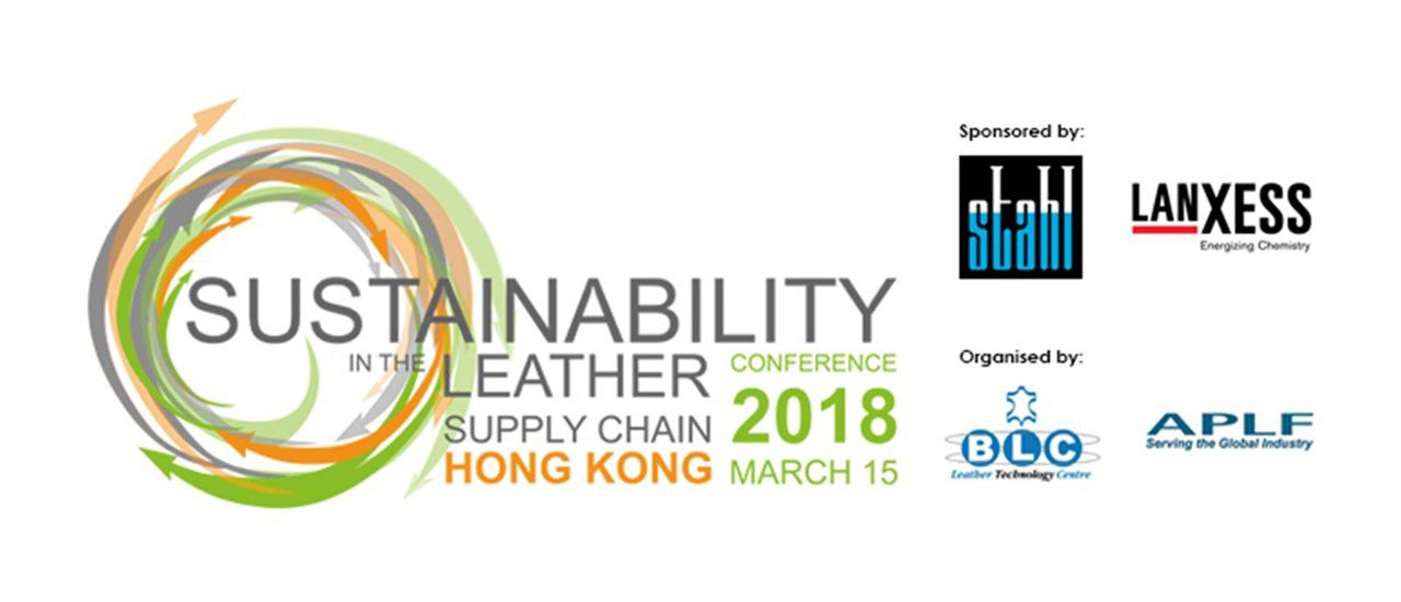 Stahl and Lanxess to Sponsor Sustainability in the Leather Supply Chain Conference Hong Kong 2018