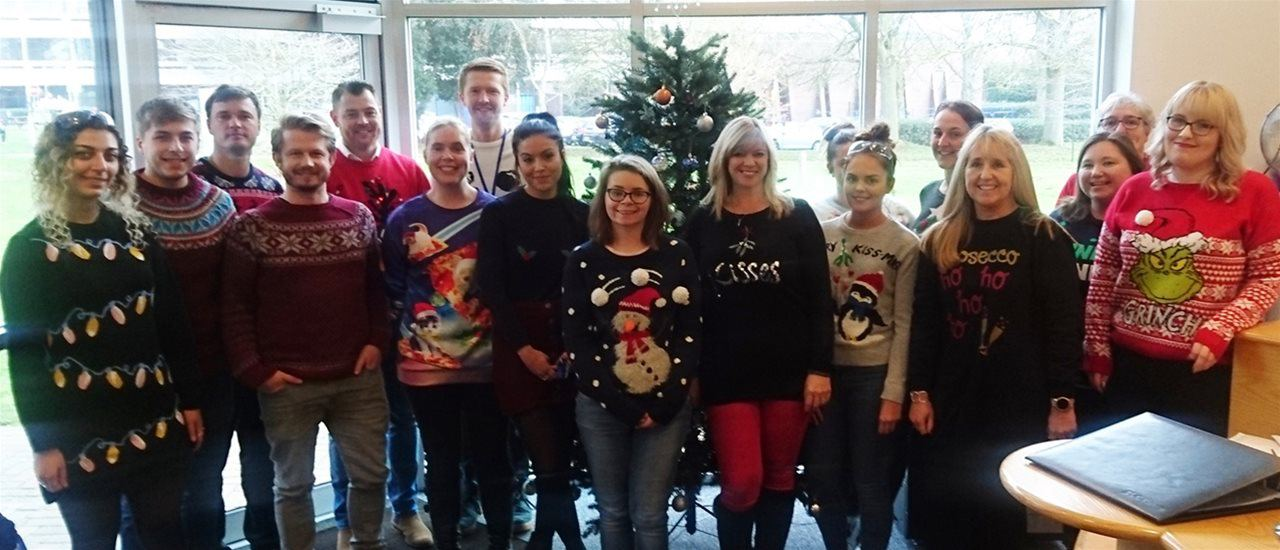 Staff at Eurofins | BLC Take Part in Christmas Jumper Day 2018